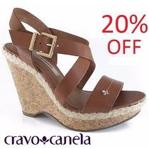 20% Off Sandália Anabela Espadrille Cravo & Canela - 94673