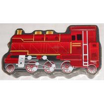 Locomotiva À Vapor Lata Litografada Caixa Em Metal 24x13x5cm