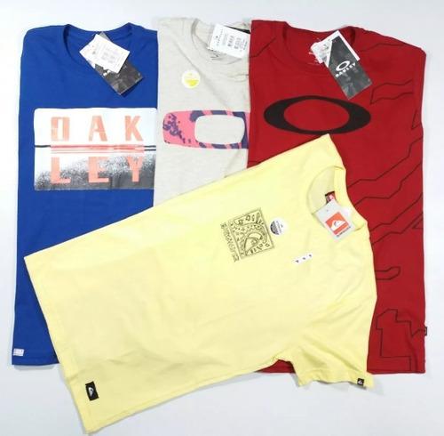 Kit 10 Camisas Blusa Camisetas Oakley Quiksilver P M G Gg - R  238 ... 0d938cfff7