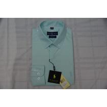 Camisa Social Masculina Polo Rauph Lauren, Cor Verde Claro.