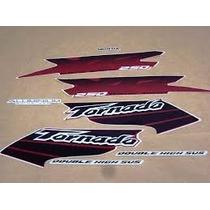 Kit Jogo Adesivos Completo Xr 250 Tornado 2003 Vermelha