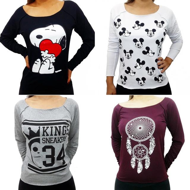 Kit 10 Camiseta Blusa Feminina Baratas Atacado T Shirt Verão em Belo ... 6dd78f0e210