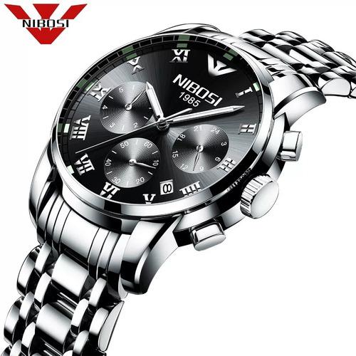 e187bcbd9d9 Relógio Masculino Nibosi Cronógrafo Ni2301 Black Completo
