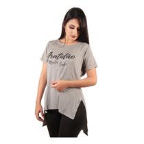 6a63cdb1a80a Camiseta Long Feminina Estampada Alongada Roupa Tumblr à venda em ...