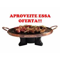Fondue Kit 32 Cm Com Rechaud E Chapa De Carne Pedra Sabão!!