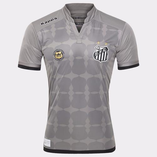 87c76ed84084b Camisa Santos Goleiro Kappa Uniforme Il 2016 Cinza