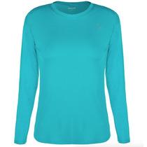 Camiseta Proteção Solar Uv Solo 50+ Fem Ml Azul Pp