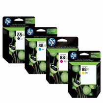 Kit Cartucho Hp 88xl- C9396a,c9391a,c9392a,c9393a - Original
