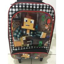 a9173987f Kit Mochila Rodinha Escolar Infantil Minecraft Oferta Promoç à venda ...
