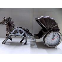 Relógio Despertador Carruagem Cavalo