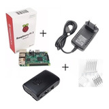 Kit Raspberry Pi3 Model B +fonte  + Case+ Dissipador Com Nf