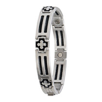 Pulseira Sabona Cross Cable Stainless Magnetic - Tamanho Gg