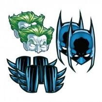 Máscara E Acessório Batman E Coringa C/ 08un