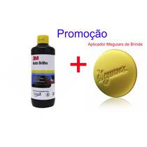 Cera Auto Brilho 3m 500 Ml Lustrador Cristalização + Brinde