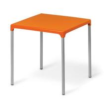 Mesa Quadrada Plastica Com Aluminio