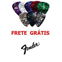 Kit Com 12 Palhetas Fender Medium ( Médias ) - Frete Grátis