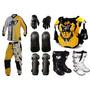 Kit Geometric Pro Tork Proteção Trilha Motocross Off Road