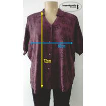 Calça Montaria Grátis Camisa Decote V Tam Grande Frete Gráti