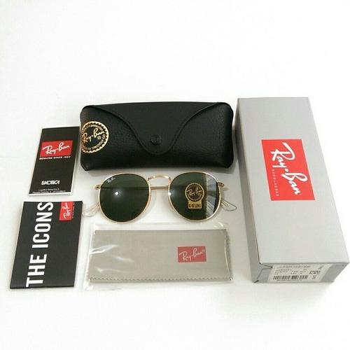 700183e552a47 Oculos De Sol Ray Ban Rb3447 Round Classic Grande 53mm