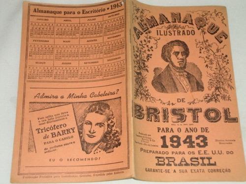 Almanaque farm cia ilustrado bristol 1943 antigo raro for Almanaque bristol 2016