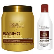 Ba Banho Verniz + Leave In Protetor Térmico - Forever Liss
