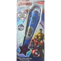 Microfone Infantil Avengers Vingadores Musical