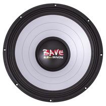Alto Falante Woofer Bravox Rave Rv18 S4 Ohms 18 Pol 1100wrms