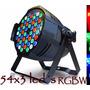 Kit 8 Refletor Led Par 64 54 Leds Cree De 3w Rgbw Dmx Strobo