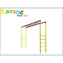Escada Horizontal 2,00m Playground, Brinquedo Para Parque