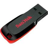 Pen Drive Sandisk 64gb Cruzer Blade Lacrado Original C/ Nf