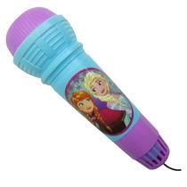 Microfone Plástico Com Eco Frozen Disney Brinquedo Infantil