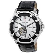 Relógio Bulova Automatico 96a123 Masculino Couro