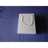 100 Sacolas, Sacolinhas Lembrancinha Papel Branco (14x7x18)