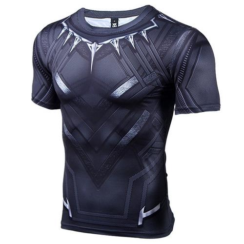 409af28617 Camisa Compressão Pantera Negra Manga Curta Pronta Entrega. R  79.9. 50  vendidos