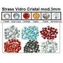 Strass Hotfix Vidro Cristal - 3mm (1.000 Un.) Termocolante