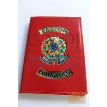 Carteira Porta Documentos Pastor Evangélico Igreja Couro