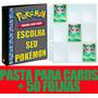 Pasta Fichário Cartas Cards Pokémon Com 50 Folhas 9 Bolsos Original