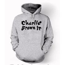 Blusa Charlie Brown Jr Moletom Canguru Com Capuz