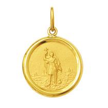 Leão Jóias Medalha Pingente Santo Expedito 2gr Ouro 18k