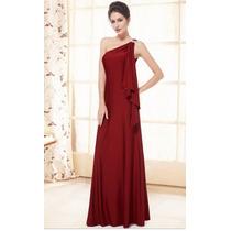 Vestido Vinho Ever Pretty Com Strass No Ombro Plus Size