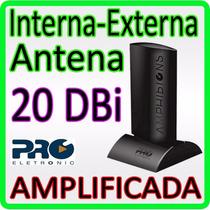 Antena 2 Em 1- Interna / Externa - Hdtv - ** Amplificada **