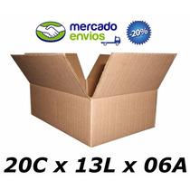 50 Caixas De Papelão 20 X 13 X 06 Tipo 1 Correio Pac Sedex