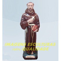 Escultura São Francisco De Chagas Linda Imagem 20cm Promoção