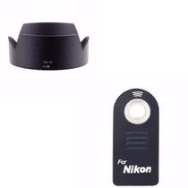 Kit Parasol Hb-32 Nikon + Disparador Ir Sem Fio Ml-l3