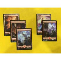 Pack Com 5 Terrenos(montanha) Full Art Battle For Zendikar