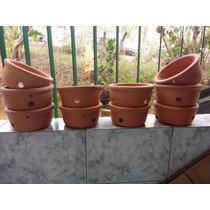 Jogo De 10 Vaso Barro Orquídeas Plantas Flores Para Varanda