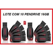 Pendrive 16gb Lote Com 10 Pçs - Frete Gratis - Promoção