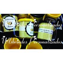 Canecas Acrílico Personalizadas De Brindes Saquinho + Laço