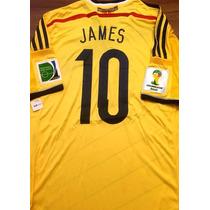 d7d4557a92 Camisas de Futebol Camisas de Seleções Masculina Colômbia com os ...