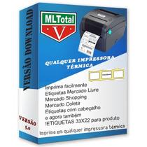 Mltotal Mercado Livre Imprima  Qualquer Impressora Térmica